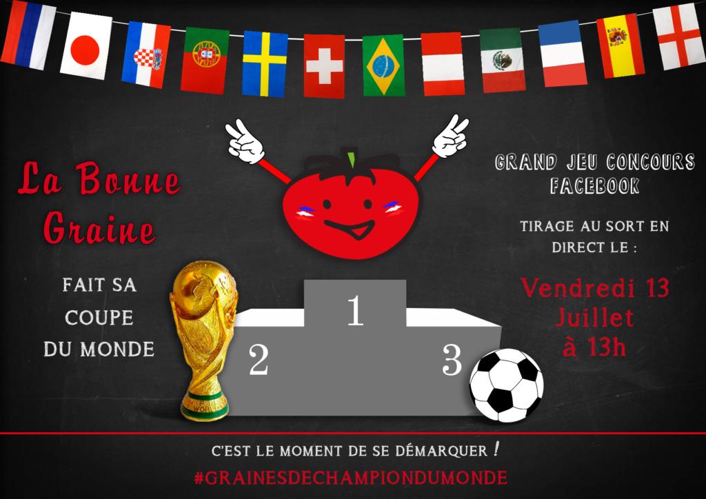 La Bonne Graine fait sa Coupe du Monde, suivez nous sur les réseaux sociaux !