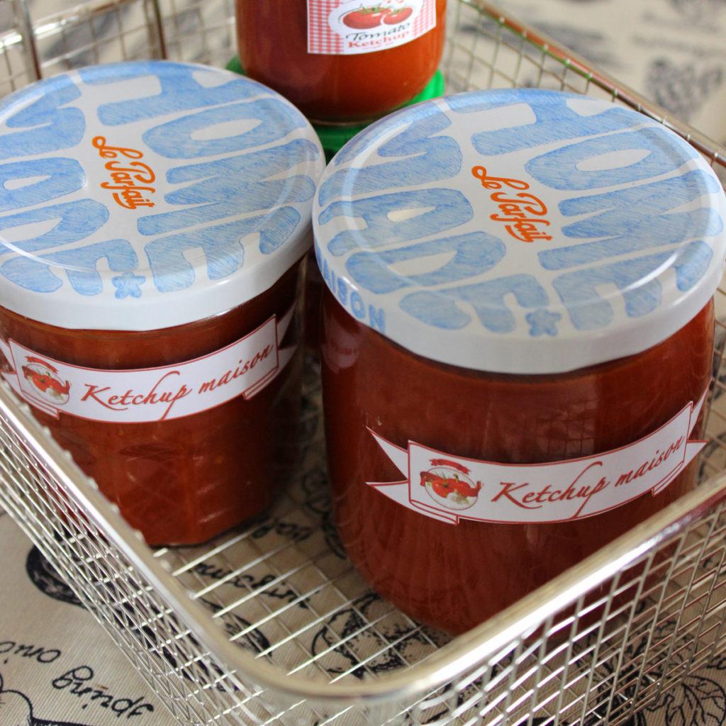Pot de ketchup maison