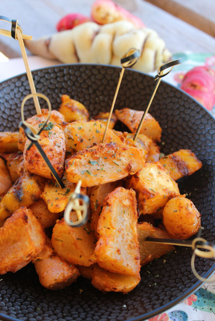Ocas et Capucines rôtis au four façon «potatoes»